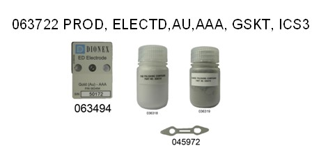 063722 ED AAA gold working electrode, with gasket and polishing kit