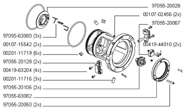 97055-60036 Ion Guide Outer Contact